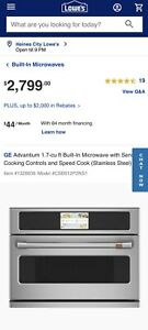 """GE Cafe CSB912P2NS1 27"""" Stainless Steel Electric Wall Oven BRAND NEW"""
