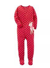 Carter's Little Girls' 1 Piece Reindeer Fleece Pajamas, 3-Toddler