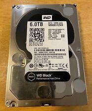 Western Digital Black WD6001FZWX 6TB 128MB Cache 6Gb/s SATA  Desktop Hard Drive
