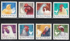 Romania 1963 MNH Mi 2145-2152 Sc 1546-1552 Domesticated birds.