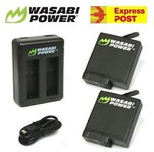 Wasabi Power Battery x 2 & Dual USB Charger for GoPro HERO5, HERO6, HERO7 Black