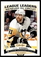2019-20 UD OPC O-Pee-Chee Base League Leaders #586 Phil Kessel - Penguins