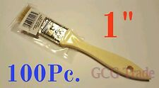 """100 of 1 Inch Chip Brush Disposable for Adhesives Paint Touchups Glue 1"""""""