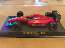 "DIE CAST ""FERRARI F92 A - 1992 IVAN CAPELLI + BOX 1"" SCALA 1/43 FERRARI F1"