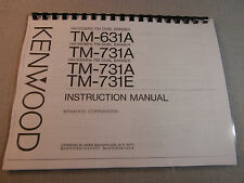 Kenwood TM-631A/731A Instruction Manual - Premium Card Stock Covers & 28 LB Pape