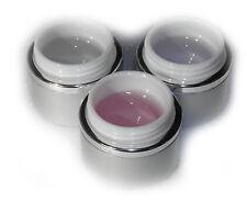 Nagelgel Set 3x40ml Aufbaugel, Haftgel, Versieglergel mit UV-Filter / Aufbau Gel