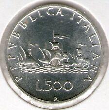 500 LIRE 1980 FDC CARAVELLE ARGENTO 835/1000  REPUBBLICA ITALIANA