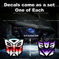 transformers decal sticker autobot decepticon free ship