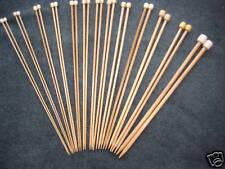 """12 Size Set Bamboo Knitting Needles SP 13.5"""" US 0-10.5"""