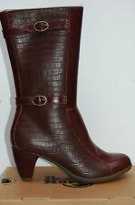 Dr Martens Carla  Chaussures Femme 38 Bottes 2 Strap Hourglass Alligator UK5 New