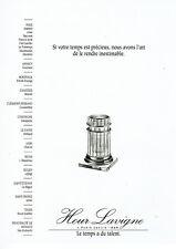 Publicité Advertising 107  1990  Hour Lavigne  pendule