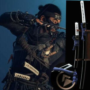 Sword Ghost of Tsushima Cosplay Replica Katana Japanese Samurai Knives A Pair