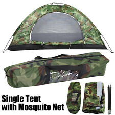 Outdoor Single Camping Tent with Mosquito Net Waterproof Folding Camouflage Tent