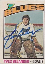 Yves Belanger Signed 1976-77 O-Pee-Chee OPC Card #168 St. Louis Blues