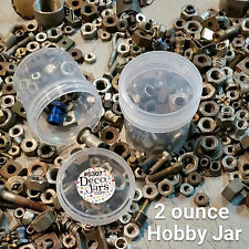 12 PP Plastic Craft Organization JARS 2 ounce Hobby Container Screw Cap 5307 USA