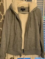 CUTE  NEW LOOK  JR's  HOODIE!   NWOT   SIZE LARGE GRAY Soft & Furry Inside