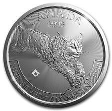 LYNX 2017 $5 Canada once argent pure ounce oz silver 5 dollars serie predateur