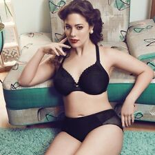 NEW Elomi 8840 Etta Underwire Bandless Bra US 38K / UK 38H Black Full Coverage