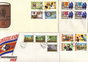 SWAZILAND - FIRST DAY COVERS  X 4  - 1968-1985 - REFER ALL SCANS FOR FULL DETAIL