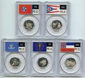2002 S Silver State Quarter Set PCGS PR69DCAM