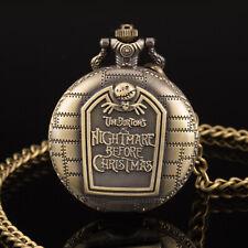 Reloj de Bolsillo PACIFISTOR de Cuarzo Analógico Colgante Collar Cadena Caja Vintage Bronce