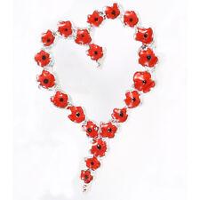 a Beautiful Presentation Box P1023 Poppy Heart Brooch Pin in
