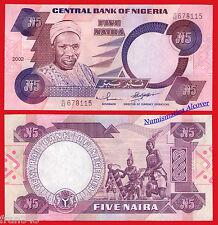 NIGERIA 5 Naira 2002  Pick 24 g  SC  /  UNC