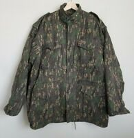 Winchester Mens Vintage Jacket Green Camo Zip Snap Pockets Removable Lining Sz L