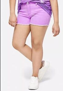 Justice Girl's Size 12 Plus Color Denim Short Shorts in Purple New with Tags
