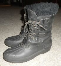 SOREL Badger black leather Winter boots women's US 8 Made in Canada