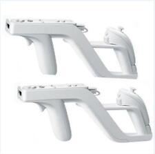 2x 2017 New Zapper Gun for Nintendo Wii Remote Wiimote Controller White