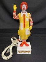 "Vintage 1985 Ronald McDonald Phone Telephone For Landline 1980s 10-1/4"" WORKS!"