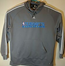 new styles 3d46d 96e7d Mens Medium to Large Denver Nuggets NBA Fusion Hoodie Climawarm Basketball  Gray