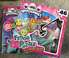 HATCHIMALS Lot of 2 New Toys - Floor Puzzle & Make Your Own Fleece Quilt NEW