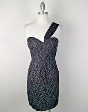 Minuet Womens Size L Dress Animal Print Sweetheart Neckline One Strap