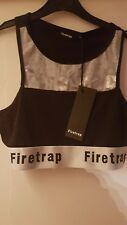 Firetrap Black & Grey Crop Top. Size Large 14. New With Tags