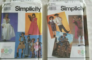 Simplicity childs Historical Costume sew Pattern Christopher Columbus YOU PICK