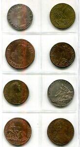 8 Jetons bzw. Rechenpfennige zw. 1621 u. 1743 , meist Frankreich mit Silber toll