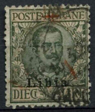 Libya Italian Colony 1915 SG#16, 10L Sage Green And Pale Rose Used #A92498