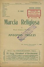 SPARTITO MUSICALE MARCIA RELIGIOSA ANTONIO MOZZI EDIZIONE ZANIBON