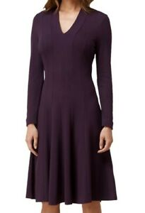L.K. Bennett 'Aviana' Ponte Dress Loganberry Size 10