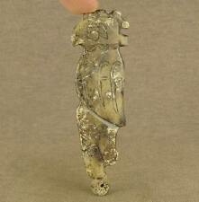 CARVED CHINESE LONGSHAN JADE SCULPTURE BIRD PENDANT