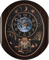 Rhythm Clocks Velvet Cosmos Magic Motion Clock (4MH428WU06)