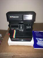Polaroid camera 1FILM/GUIDE/MANUAL ICONIC RAINBOW STRIPE READY TO SHOOT...MINT
