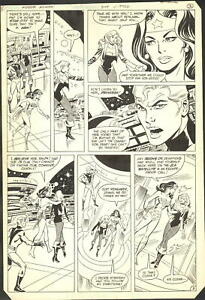 1983 WONDER WOMAN #309 PAGE 3 COMIC ORIGINAL ART BY DON HECK with BLACK CANARY