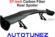 "57"" Universal Racing Carbon Fiber Rear Spoiler GT Wing Track Drift Autotunez TyH"