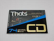 That's CD 74 Cassette Tape (Sealed)