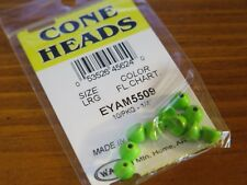 Wapsi Cone Heads Painted for Fly Tying coneheads, size Large - Fl. Chartreuse