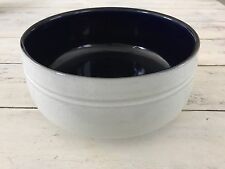 "7"" DENBY POTPOURRI BLUE Round Vegetable Bowl Navy White Serving Dish"