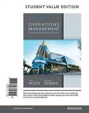 NEW Operations Management, Student Value Edition (11th Edition) by Jay Heizer